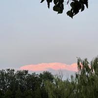 粉红色的云彩